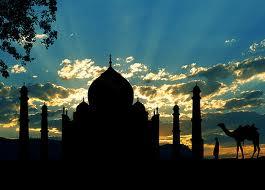インドの写真 夕日 1
