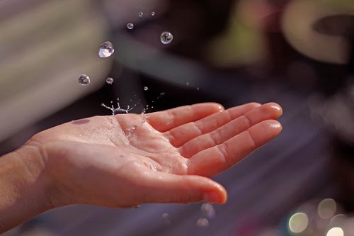 rain in hand